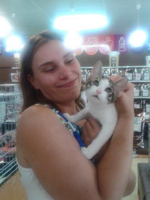Mobi et son adoptante