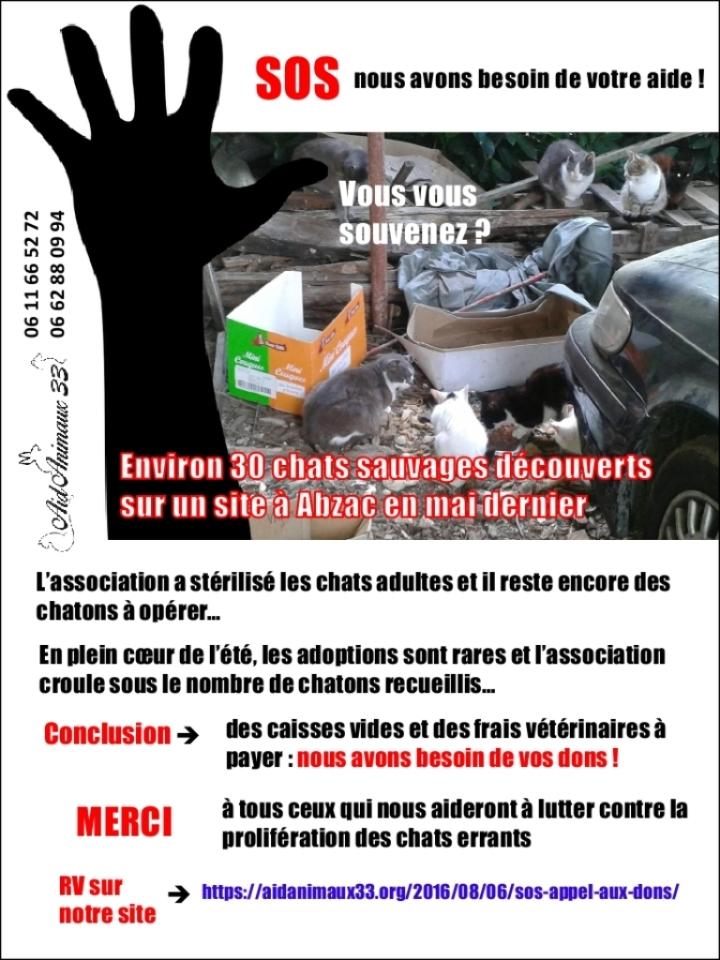 SOS appel aux dons_août 2016