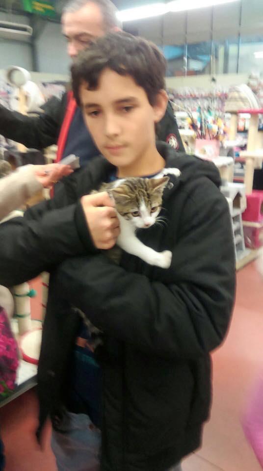 Maldy et son adoptant